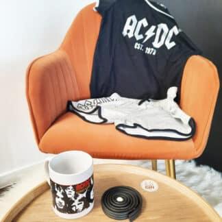 AC/DC - Ensemble de pyjamas short pour femme