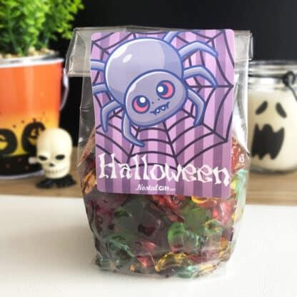 Sachet bonbons Halloween - 30 araignées gélifiées
