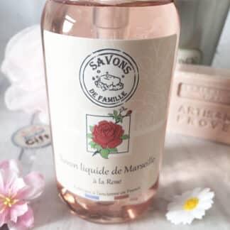 Savon liquide de Marseille à la rose ( 300 ml )