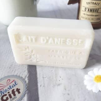 Savon de Marseille Bio au lait d'ânesse ( 100g )