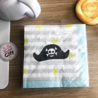 16 Serviettes en papier Pirate