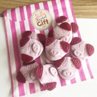 Bonbons Tête de cochon gélifiés x 10