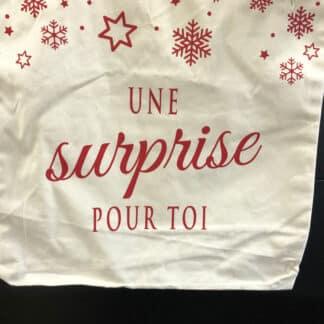 """Tote bag noël -  """" Une surprise pour toi """""""