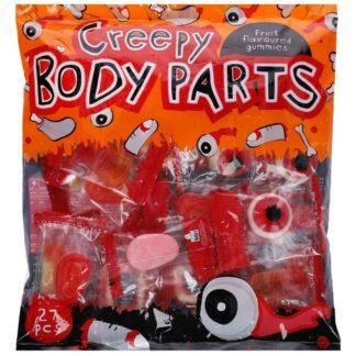 Paquet de 27 mini sachets de bonbons d'Halloween - Dents de vampires, doigts et pieds coupés (220g)