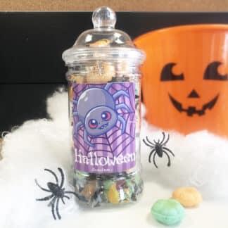 Bonbonnière d'Halloween - 30 mini citrouilles fourrées de poudre (200g)