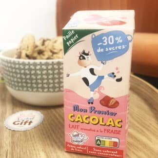 Mon premier Cacolac - Pack de 3 briques de lait aromatisé à la fraise (200ml)