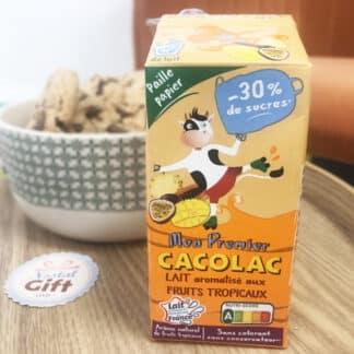 Mon premier Cacolac - Pack de 3 briques de lait aromatisé aux fruits tropicaux (200ml)