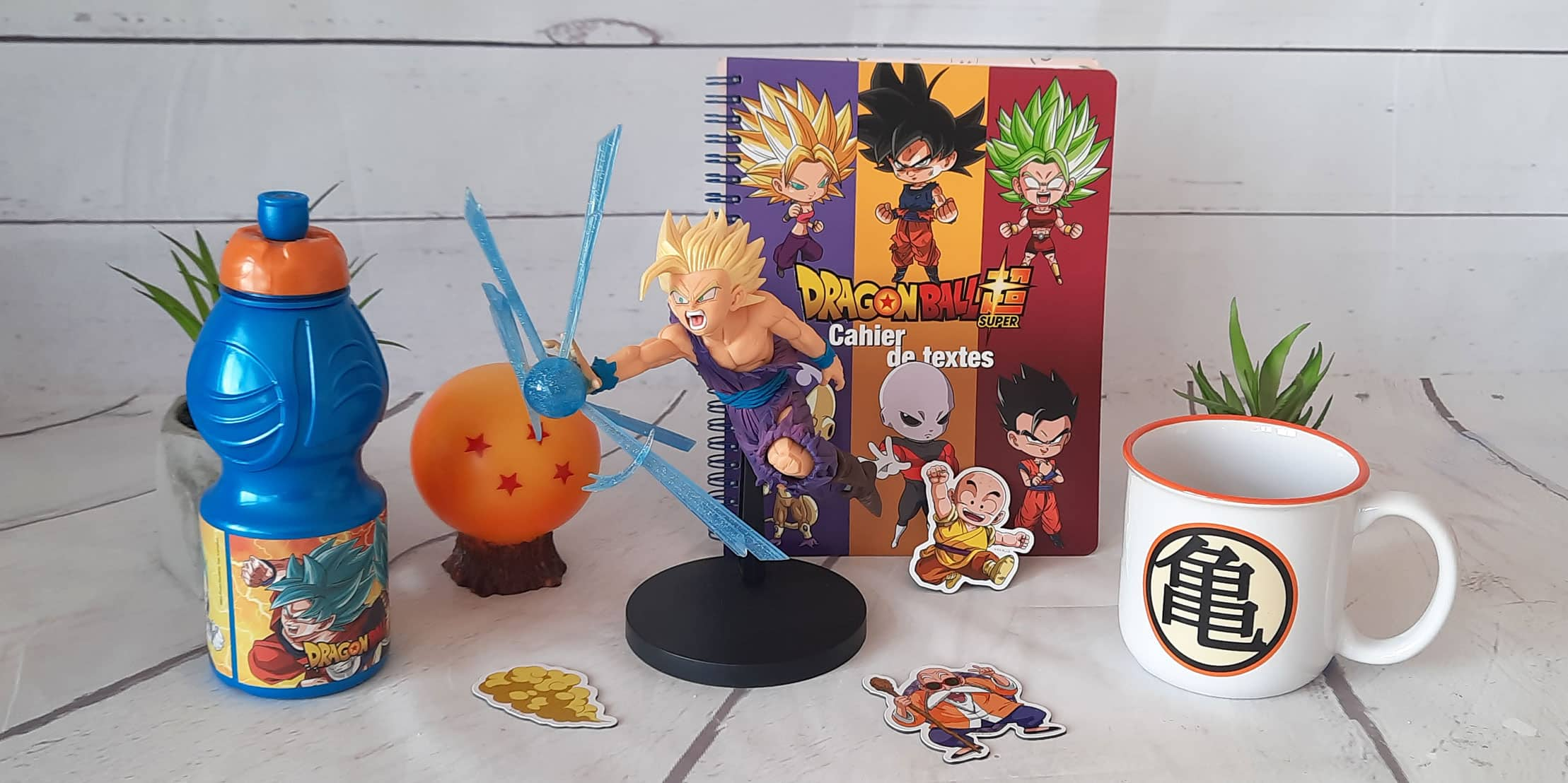 Vous êtes fan de Dragon Ball ? Retrouvez l'univers de Son Goku et ses amis sous forme de figurines, bouteilles, porte clés, mugs, ... Il y a des cadeaux et des goodies pour tout le monde.