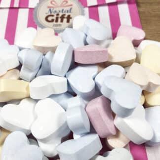 Bonbons dextroses en cœurs pastel