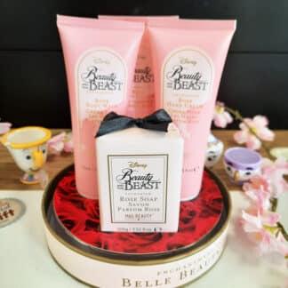Coffret cadeau Dôme La Belle et la Bête - Savon, lait corporel et crème pour les mains