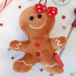 Petite peluche Noël - Mini bonhomme en pain d'épice (10 cm)