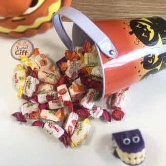 Petit seau avec bonbons Krema pour Halloween