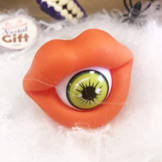 Bpop Terror - Sucette d'Halloween bouche en forme d'oeil orange (15g)