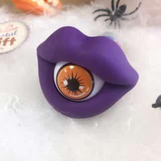 Bpop Terror - Sucette d'Halloween bouche en forme d'oeil violette (15g)