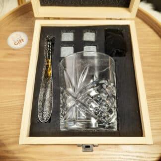 Coffret cadeau - 1 verre et 4 Pierres à Whisky
