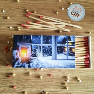 Boîte de 50 allumettes XL - Motifs Noël