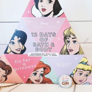Disney Princesses - Calendrier de l'avent 12 Jours - Produits beauté bain et corps