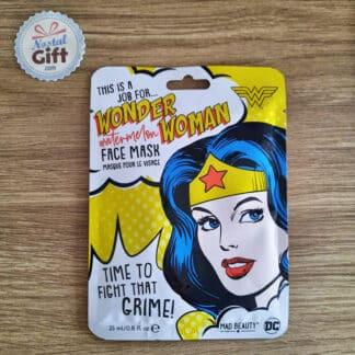 Masque de beauté en tissu pour le visage - Wonder Woman (DC Comics)